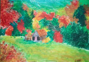 Autumn landscape by HomicidalThoughts