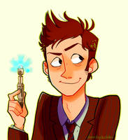 10th Doctor by DanRobydoobles