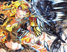 Yang vs Mercury by mikkusushi