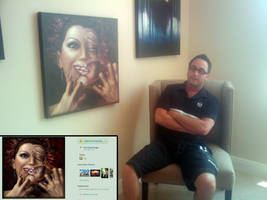 Thief posing with stolen art by just-a-user