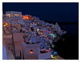 Santorini by night by Pecetta