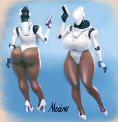 Haydee color sketch by modaw