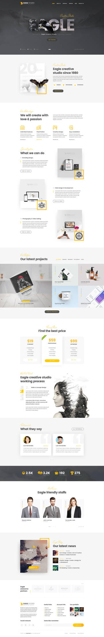 Eagle Studio - Creative PSD Template by youwes