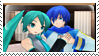 First Kaito x Miku Stamp by PharaohAtisLioness