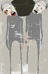 la souffrance / porter son poids by laflaneuse