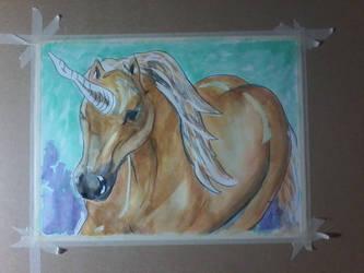 Golden unicorn by loretta-nash