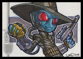 Cad Bane Sketchcard by lordmesa