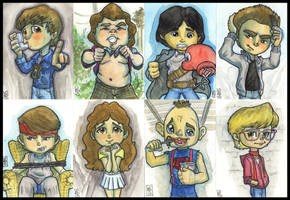 Lil Goonies Sketch Cards by lordmesa