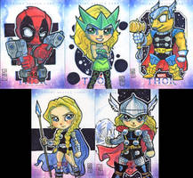 Thor Artist Proof Cards 1 by lordmesa