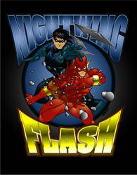 Nightwing and the Flash by lordmesa