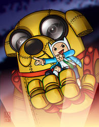 Giant-JakeO!!! 3D!!! by lordmesa