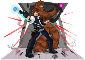 Han and Chewy by lordmesa