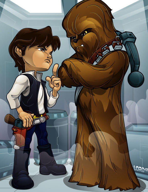 Lil Han and Chewy by lordmesa
