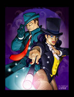 The Question and Zatanna by lordmesa