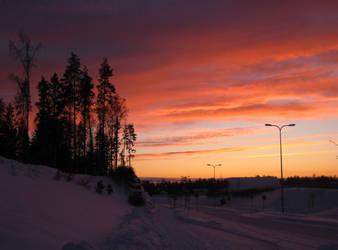 Winter Sunset by FireRai