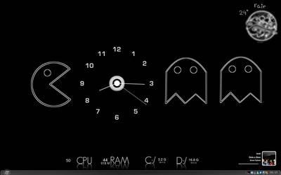 Minimalist Pac Man  Desktop by rephl