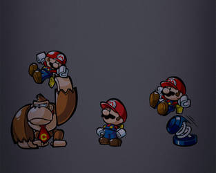 Mario vs Donkey Kong by rephl