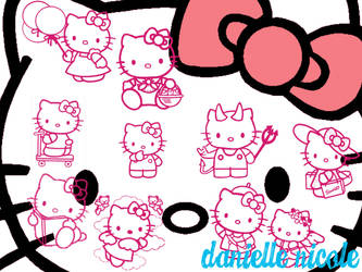 Hello Kitty Background by underestimatedbeauty
