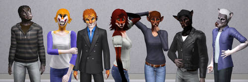 Sims3 Anthro Character Downloads by Popcornstar45
