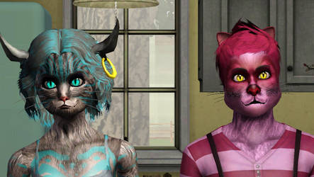sims3 Cartoon Cheshire In progress... by Popcornstar45