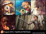 August Patron Packs - HighRes and PSD by AssasinMonkey