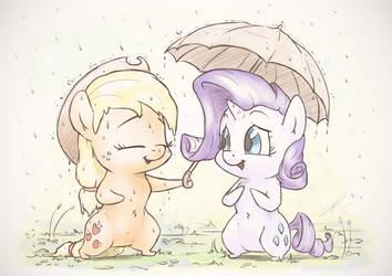 Together through Rainy days by AssasinMonkey