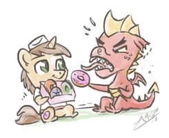A Pony's Birthday Donuts by AssasinMonkey