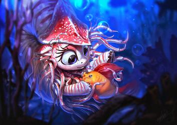 Nautila and the Bubble Fish by AssasinMonkey