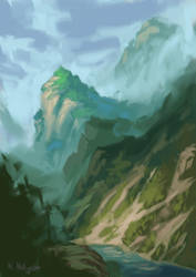 Mountains by TheMagicalPot