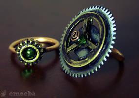 Steampunk Rings by Emoeba