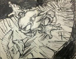 Sonic Speed Break Journal Page (No erasing) by MarcusThomas
