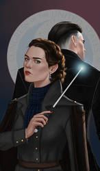 Theresa Nott and Percival Graves by gravity-zero