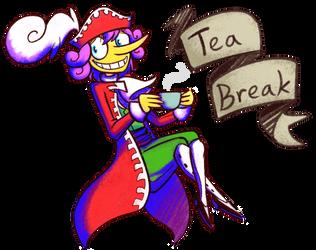 Tea Break [Paper Mario: TTYD] by Altermentality