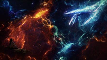 Human meets Universe by AmetrineJewel