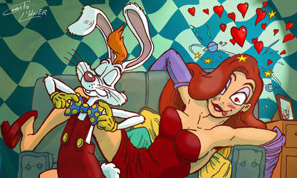 Roger Rabbit, great kisser? by Christo-LHiver