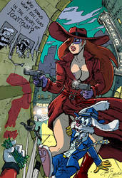 Roger and Jessica Rabbit, retro crimefighters-nsfw by Christo-LHiver