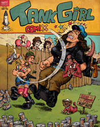 Mash-up : Tank Girl, Popeye and Crumb by Christo-LHiver