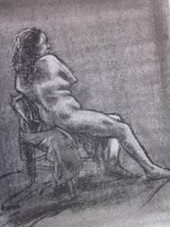 Seated Pose by Birrueta