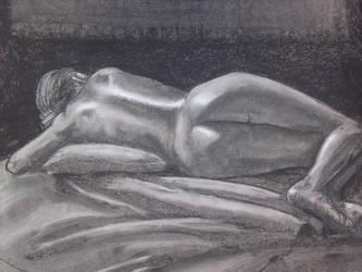 Reclining Nude by Birrueta