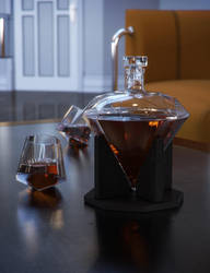 Deco Downtime Decanter by jacktomalin