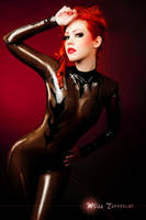 Flame Catsuit by THETERRORCAT
