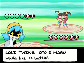 battle with twins by drill-tail