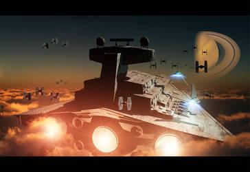 The Empire's fleet by Superiorgamer