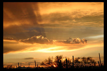 Golden Rays Monsoon Sunset 1 by RooCat