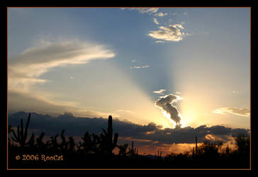Searchlight Sunset by RooCat