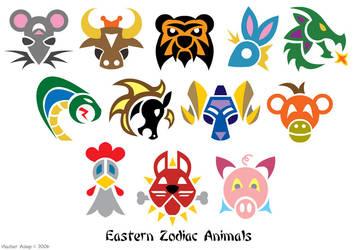 Zodiac Animal Symbols by Tibby101