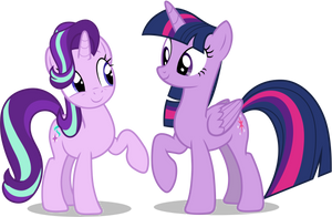 Twilight Sparkle and Starlight Glimmer by FamousMari5