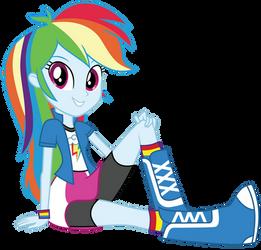 Rainbow Dash sitting by FamousMari5