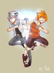 Matou and Fox by Chokette