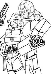 Ironhide + Chromia lines by Ridel